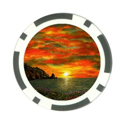 Alyssa s Sunset by Ave Hurley ArtRevu - Poker Chip Card Guard