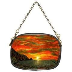 Alyssa s Sunset by Ave Hurley ArtRevu - Chain Purse (One Side)