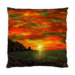 Alyssa s Sunset by Ave Hurley ArtRevu - Standard Cushion Case (Two Sides)