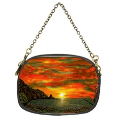 Alyssa s Sunset by Ave Hurley ArtRevu - Chain Purse (Two Sides)