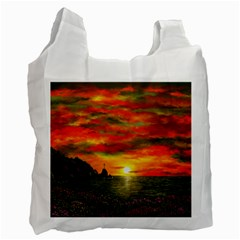 Alyssa s Sunset by Ave Hurley ArtRevu - Recycle Bag (Two Side)