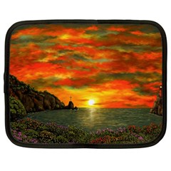 Alyssa s Sunset by Ave Hurley ArtRevu - Netbook Case (XL)