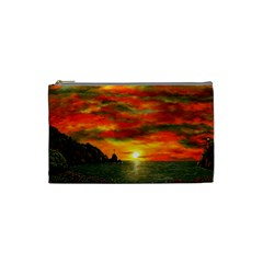 Alyssa s Sunset by Ave Hurley ArtRevu - Cosmetic Bag (Small)