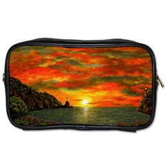 Alyssa s Sunset by Ave Hurley ArtRevu - Toiletries Bag (One Side)
