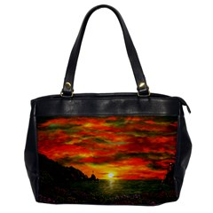 Alyssa s Sunset by Ave Hurley ArtRevu - Oversize Office Handbag