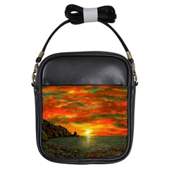 Alyssa s Sunset by Ave Hurley ArtRevu - Girls Sling Bag