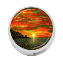 Alyssa s Sunset by Ave Hurley ArtRevu - 4-Port USB Hub (One Side)