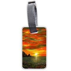 Alyssa s Sunset by Ave Hurley ArtRevu - Luggage Tag (two sides)