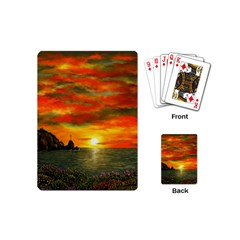 Alyssa s Sunset By Ave Hurley Artrevu   Playing Cards (mini)