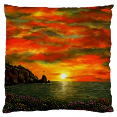 Alyssa s Sunset By Ave Hurley Artrevu   Large Cushion Case (one Side)