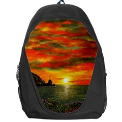 Alyssa s Sunset by Ave Hurley ArtRevu - Backpack Bag