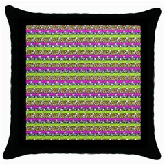 Animal Print Black Throw Pillow Case