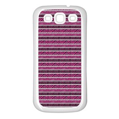 Animal Print Samsung Galaxy S3 Back Case (White)