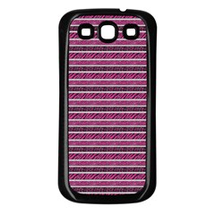 Animal Print Samsung Galaxy S3 Back Case (Black)