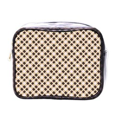 Plaid  Mini Travel Toiletry Bag (One Side)