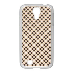 Plaid  Samsung GALAXY S4 I9500/ I9505 Case (White)