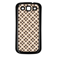Plaid  Samsung Galaxy S3 Back Case (Black)