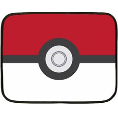 Pokeball Blanket Mini Fleece Blanket (Single Sided)