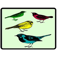 Song Birds Fleece Blanket (Extra Large)