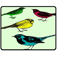 Song Birds Fleece Blanket (medium)