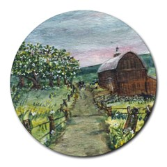 Amish Apple Blossoms  by Ave Hurley of ArtRevu ~ Round Mousepad
