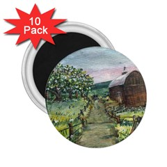 Amish Apple Blossoms  by Ave Hurley of ArtRevu ~ 2.25  Magnet (10 pack)