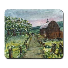 Amish Apple Blossoms  by Ave Hurley of ArtRevu ~ Large Mousepad