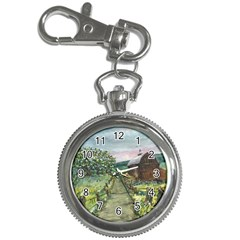 Amish Apple Blossoms  by Ave Hurley of ArtRevu ~ Key Chain Watch