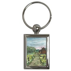 amish Apple Blossoms  By Ave Hurley Of Artrevu   Key Chain (rectangle)