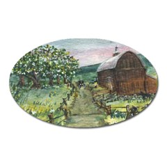 amish Apple Blossoms  By Ave Hurley Of Artrevu   Magnet (oval)