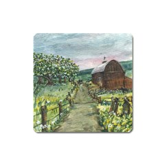 Amish Apple Blossoms  by Ave Hurley of ArtRevu ~ Magnet (Square)