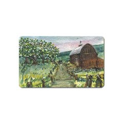 Amish Apple Blossoms  by Ave Hurley of ArtRevu ~ Magnet (Name Card)