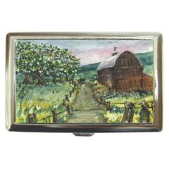 Amish Apple Blossoms  by Ave Hurley of ArtRevu ~ Cigarette Money Case