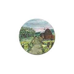 Amish Apple Blossoms  by Ave Hurley of ArtRevu ~ Golf Ball Marker