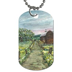 Amish Apple Blossoms  by Ave Hurley of ArtRevu ~ Dog Tag (Two Sides)