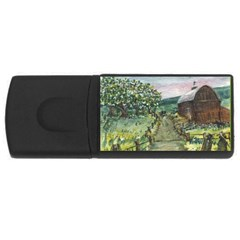 Amish Apple Blossoms  by Ave Hurley of ArtRevu ~ USB Flash Drive Rectangular (1 GB)