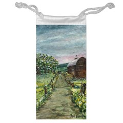 Amish Apple Blossoms  by Ave Hurley of ArtRevu ~ Jewelry Bag
