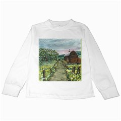 Amish Apple Blossoms  by Ave Hurley of ArtRevu ~ Kids Long Sleeve T-Shirt