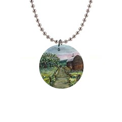 amish Apple Blossoms  By Ave Hurley Of Artrevu   1  Button Necklace