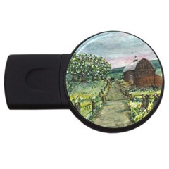 Amish Apple Blossoms  by Ave Hurley of ArtRevu ~ USB Flash Drive Round (4 GB)