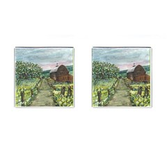 amish Apple Blossoms  By Ave Hurley Of Artrevu   Cufflinks (square)
