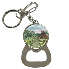 amish Apple Blossoms  By Ave Hurley Of Artrevu   Bottle Opener Key Chain