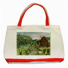 Amish Apple Blossoms  by Ave Hurley of ArtRevu ~ Classic Tote Bag (Red)