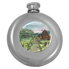 Amish Apple Blossoms  by Ave Hurley of ArtRevu ~ Hip Flask (5 oz)