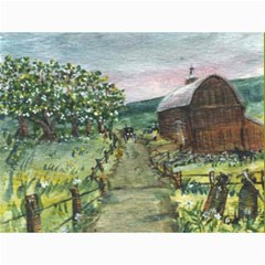 Amish Apple Blossoms  by Ave Hurley of ArtRevu ~ Canvas 12  x 16