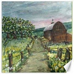 amish Apple Blossoms  By Ave Hurley Of Artrevu   Canvas 16  X 16