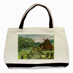 amish Apple Blossoms  By Ave Hurley Of Artrevu   Basic Tote Bag (two Sides)