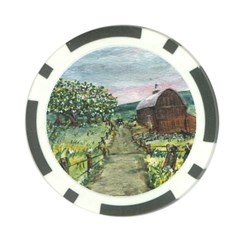 amish Apple Blossoms  By Ave Hurley Of Artrevu   Poker Chip Card Guard