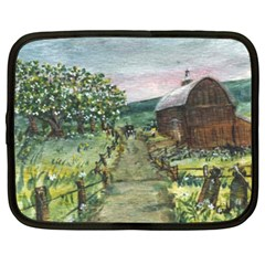 Amish Apple Blossoms  by Ave Hurley of ArtRevu ~ Netbook Case (Large)