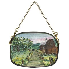 Amish Apple Blossoms  by Ave Hurley of ArtRevu ~ Chain Purse (Two Sides)
